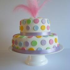 Pastel dotty cake.JPG